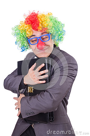 Clown businessman