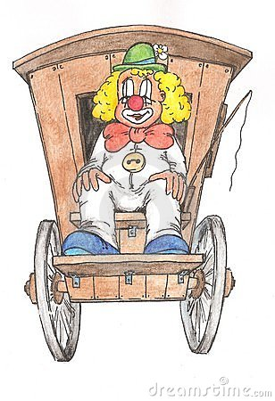 Clown by the Car