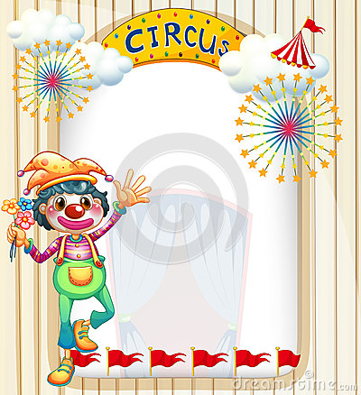 A clown at the circus entrance