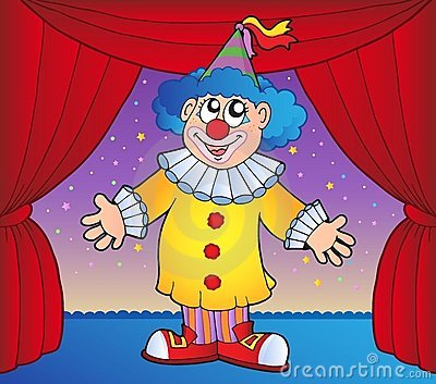 Clown on circus stage 1