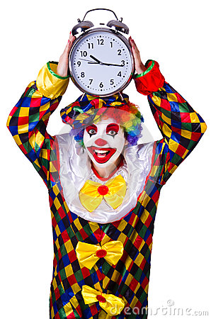 Clown with clock
