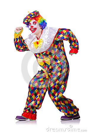 Clown in the costume