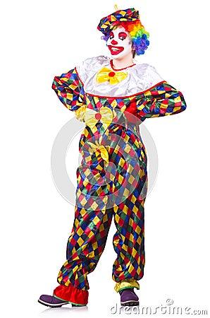 Clown in the costume