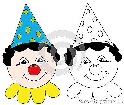 Clown de cirque heureux
