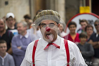 Clown at Edinburgh Festival Fringe Editorial Stock Image