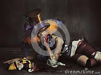 Clown effrayant de monstre