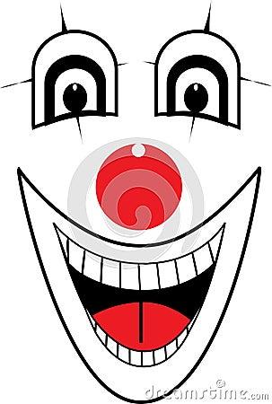 Clown face vector Vector Illustration
