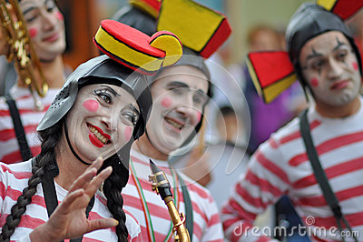 Clown fanfare Editorial Stock Image
