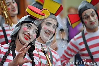 Clown fanfare Editorial Stock Image