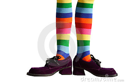 Clown Feet Isolated