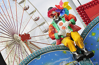 Clown and ferris wheel