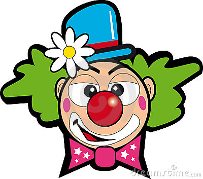 Clown with flower