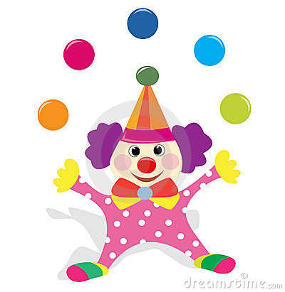 Clown juggling with balls