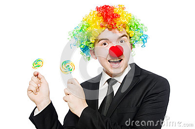 Clown with lollipop