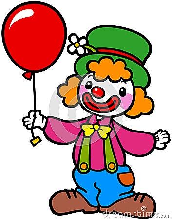 clown met ballon royalty vrije stock foto afbeelding