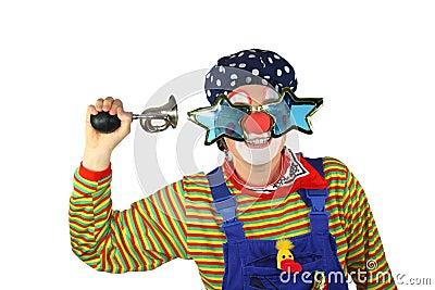 clown mit fahrrad hupe lizenzfreie stockfotografie bild. Black Bedroom Furniture Sets. Home Design Ideas