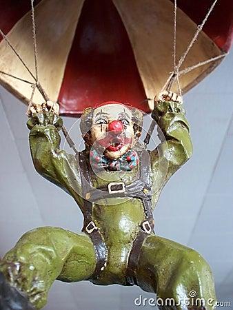 Clown on a parachute