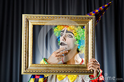 Clown with picture frames