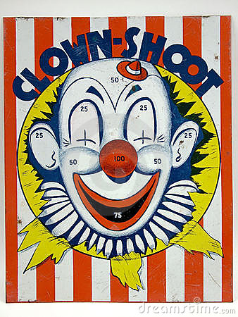 Free Clown Shoot Target Game Toy Stock Photography - 2188762