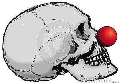 Clown skull (vector)