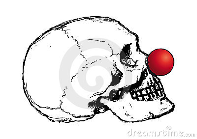 Clown skull (vector)