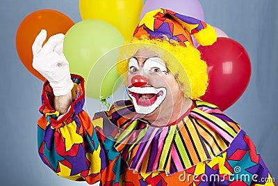 Clown Snaps Fingers