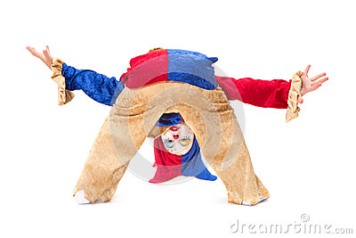 Clown upside down