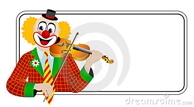 Clown the violinist