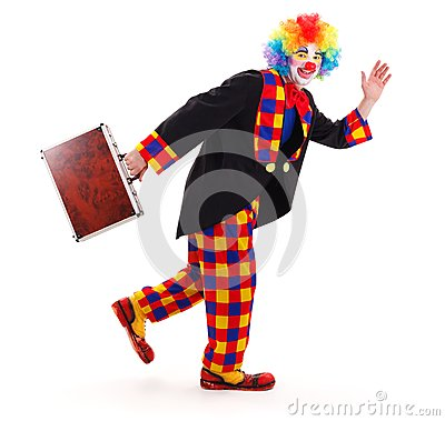 Free Clown With Briefcase Stock Photography - 24784522