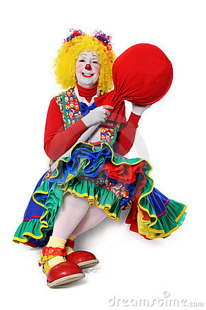 Free Clown With Large Popsicle Royalty Free Stock Photos - 5547068