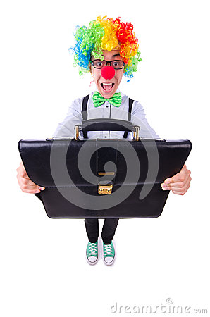 Clownaffärsman