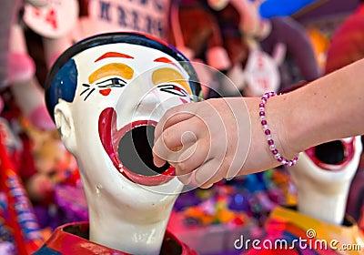 clowns at fete or fair