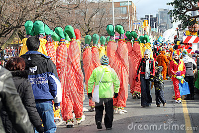 Clowns - Santa Claus Parade Toronto 2010 Editorial Image