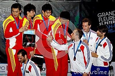 Clôture de la coupe du monde 2010. Cérémonie de remise des prix Photographie éditorial