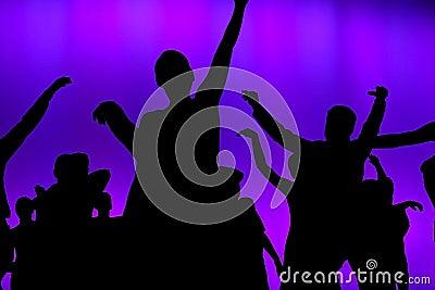 Club concert dancers