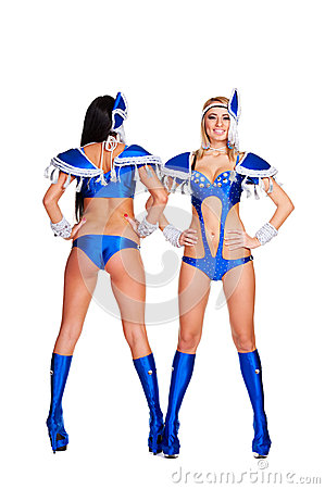 Club dancers in stage costume