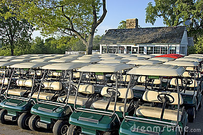 Club House and Golf Carts