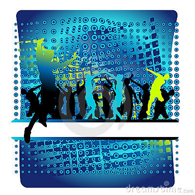 Club life, people dance