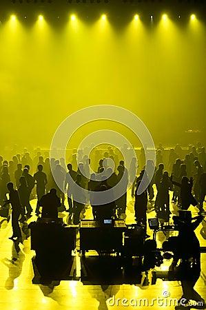 Club music concert