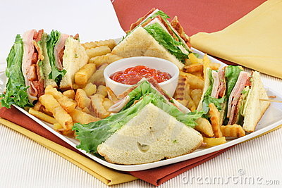 Club sandwich finger food