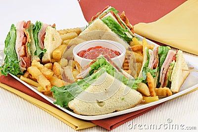 Club sandwich finger food