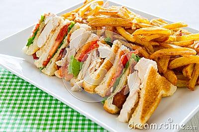 Club sandwich meal