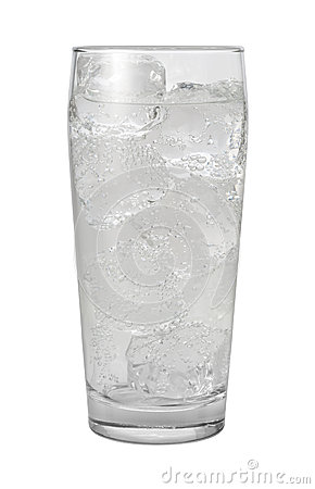 Free Club Soda Water Isolated With Clipping Path Royalty Free Stock Images - 27699669