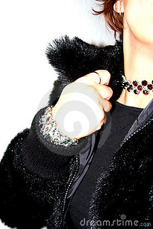 Free Clubbing Glitz - Fur And Rhinestones Royalty Free Stock Photography - 310107