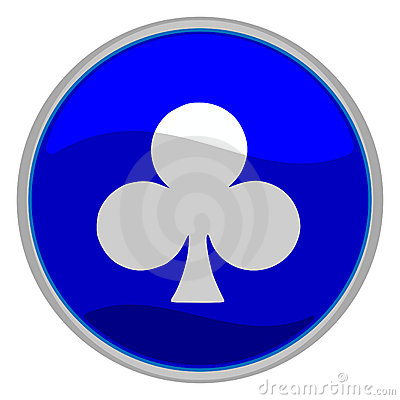 Clubs suit icon
