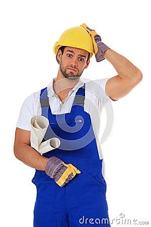 Clueless manual worker