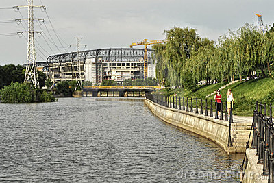 cluj arena somes Editorial Stock Image