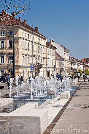Cluj-Napoca center Editorial Stock Image