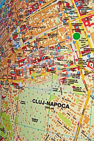 Cluj-Napoca map