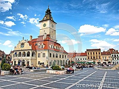 Cluj Napoca square Editorial Stock Image